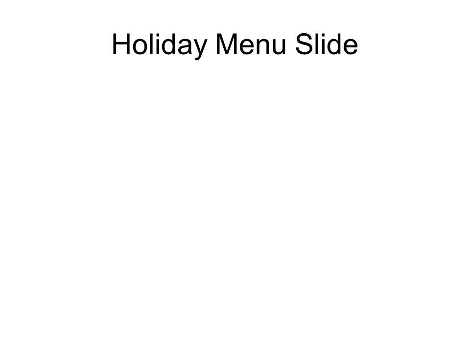 Holiday Menu Slide