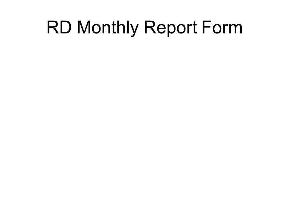 RD Monthly Report Form