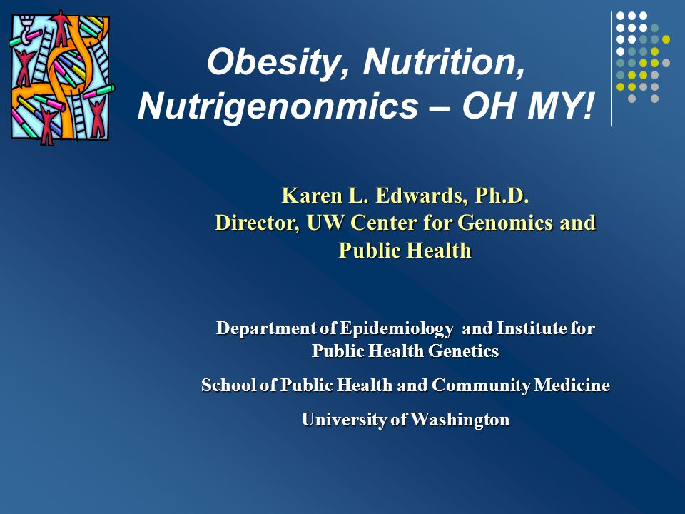 Objectives 1.Be familiar with the evidence for genetic influences on obesity 2.Be able to define nutrigenomics 3.Understand current limitations of nutrigenomic testing