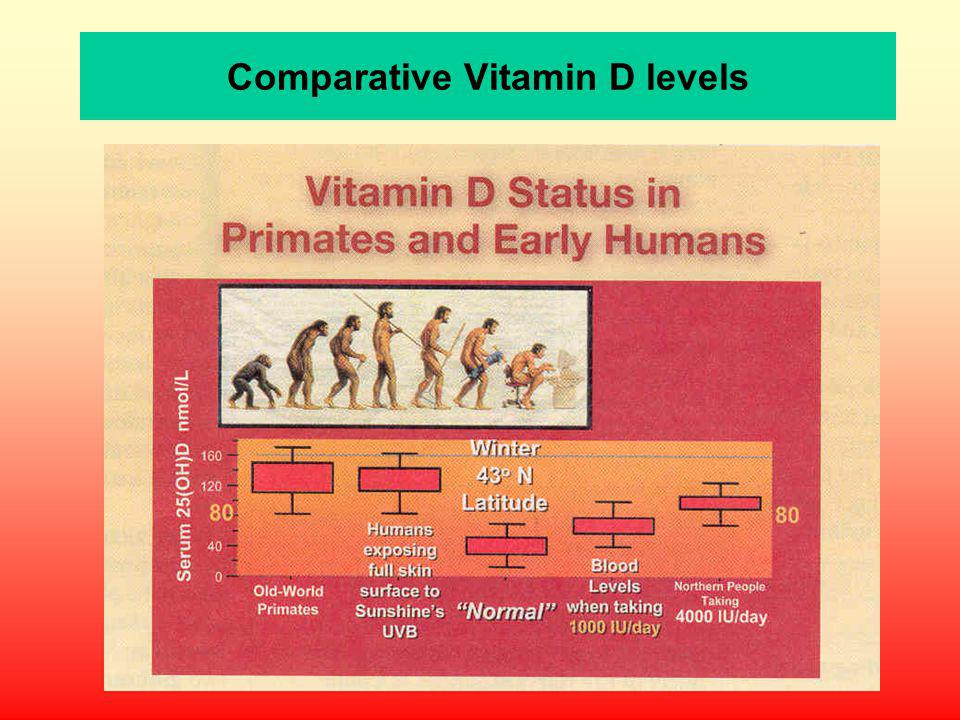 Comparative Vitamin D levels