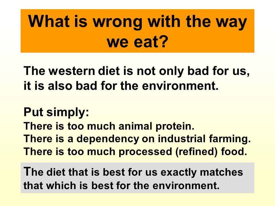 All the information in this lecture can be viewed in greater detail on my web site www.eateco.org It is a fully referenced scientifically based analysis.