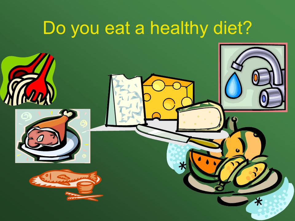 Do you eat a healthy diet?
