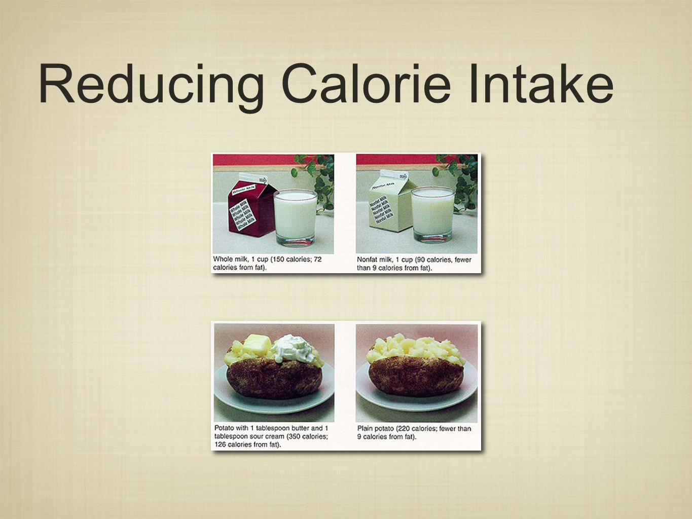 Reducing Calorie Intake