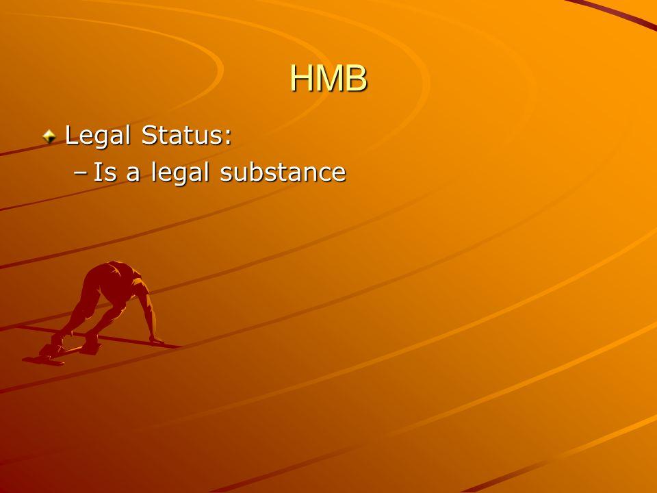 HMB Legal Status: –Is a legal substance