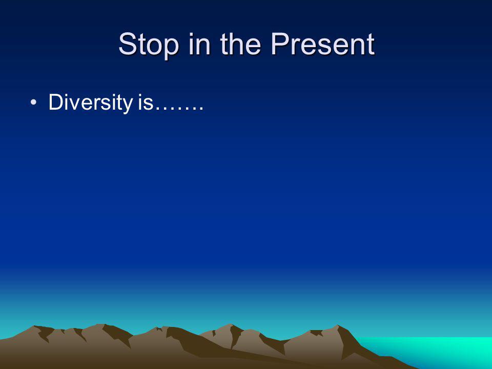 Stop in the Present Cultural Self Awareness