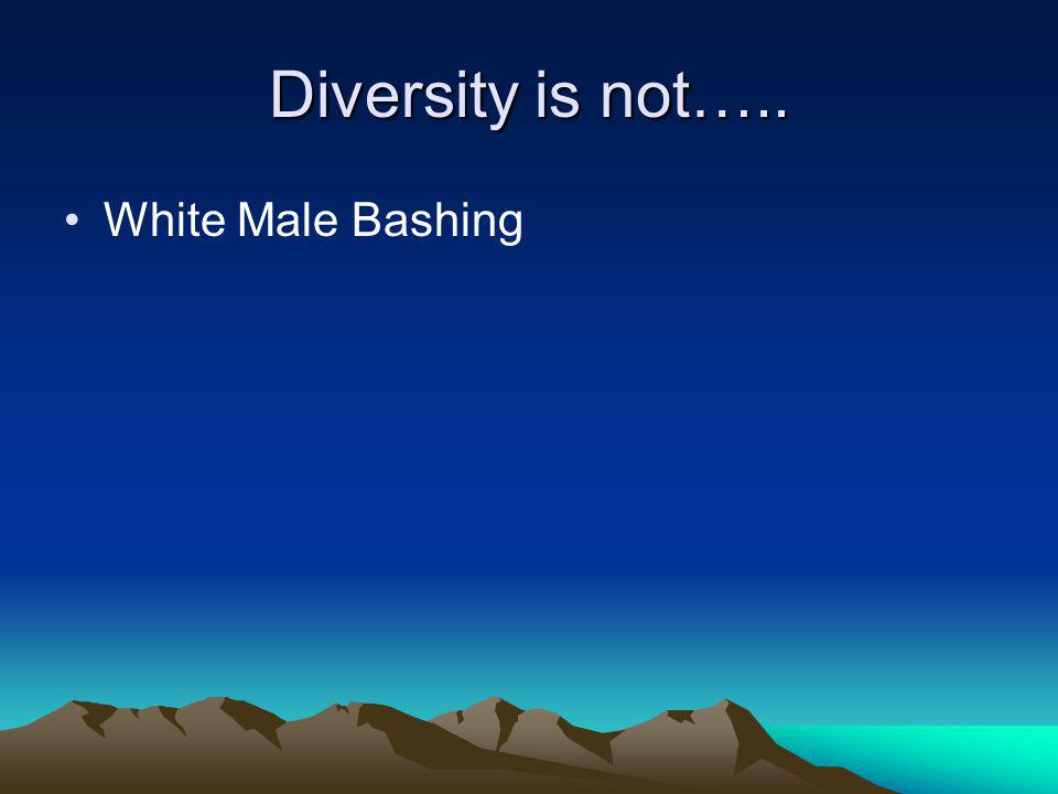 Stop in the Present Diversity is……. about understanding cultural differences.