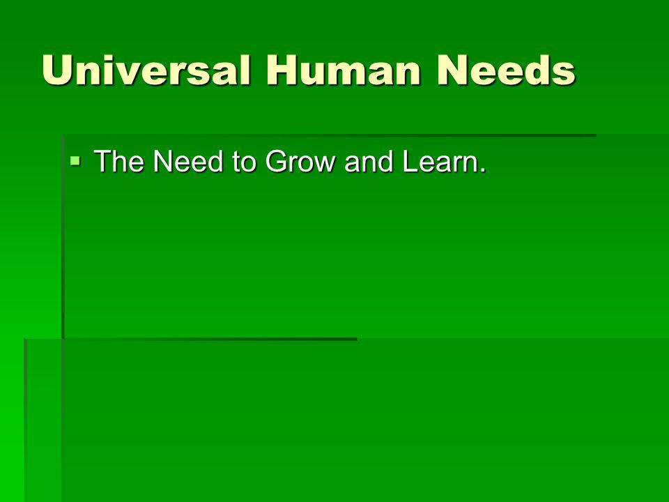Universal Human Needs