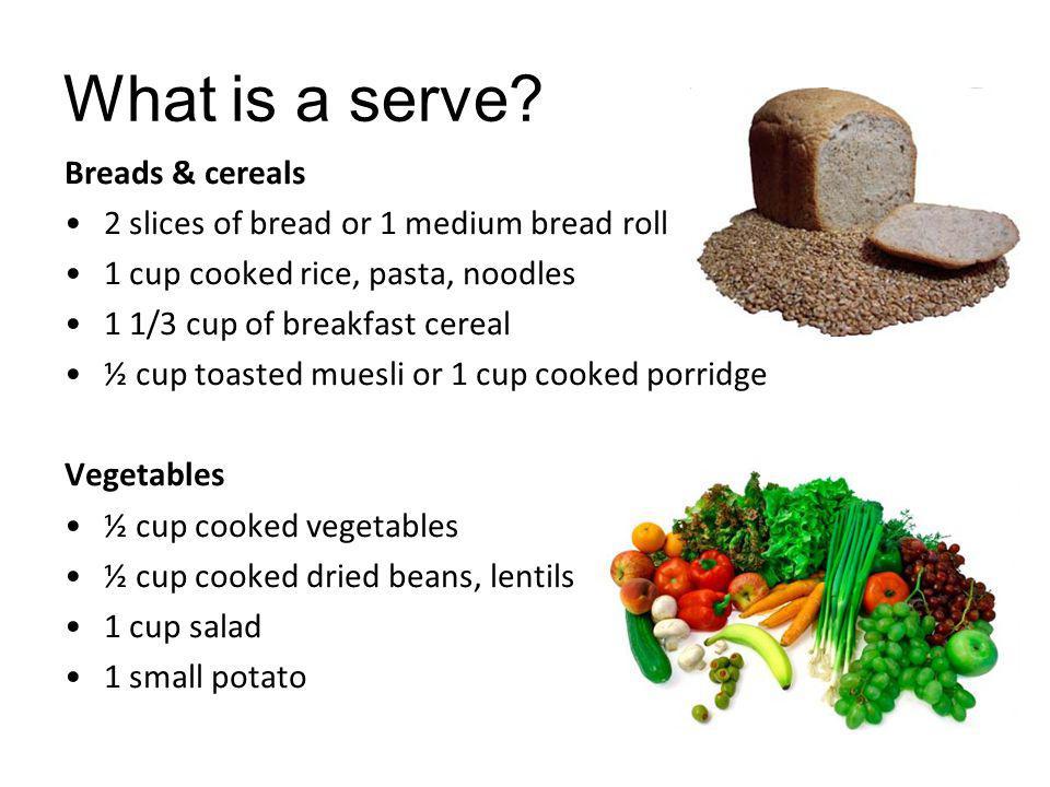 What is a serve.Fruit: 1 medium piece of fruit (150g) e.g.