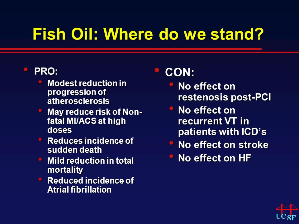 Fish Oil: Where do we stand.
