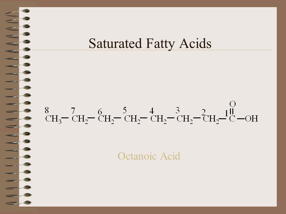 Octanoic Acid Saturated Fatty Acids