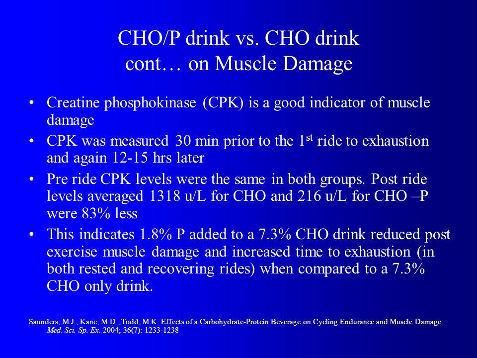 CHO/P drink vs.