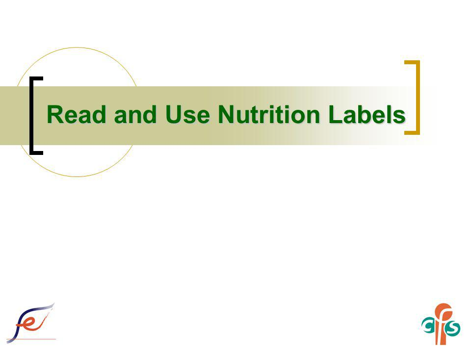 28 Nutrition Labelling is a Useful Tool for Practising Healthy Eating Nutrition label and nutrition claim can help consumers choose healthier food in accordance with healthy eating principles and the Food Pyramid, e.g.