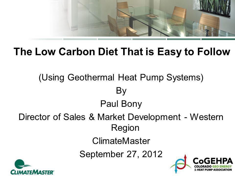 The Low Carbon Diet