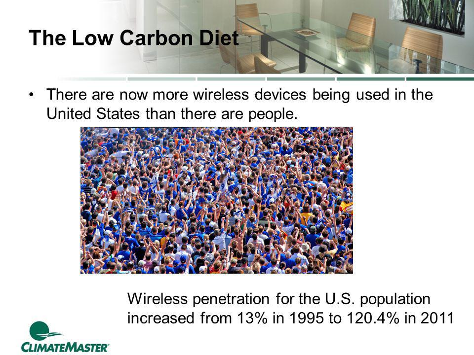 The Low Carbon Diet There are now more wireless devices being used in the United States than there are people.