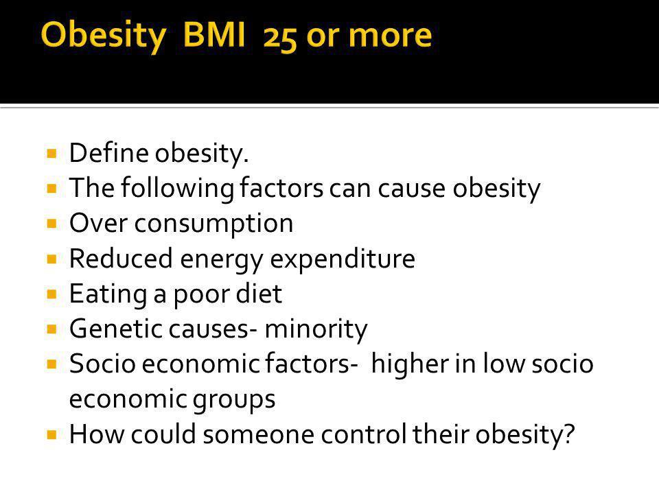 Define obesity.