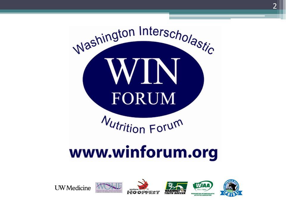 33 Where to go for more info: WINForum : www.winforum.orgwww.winforum.org American Dietetics Association: www.eatright.orgwww.eatright.org MyPlate: www.choosemyplate.govwww.choosemyplate.gov PowerBar: www.powerbar.comwww.powerbar.com For more information, go to WINForum.org