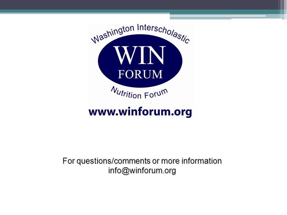 34 For questions/comments or more information info@winforum.org