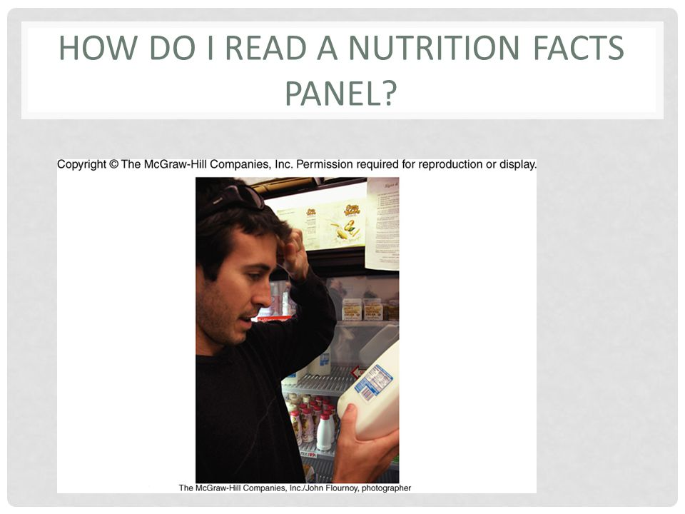 HOW DO I READ A NUTRITION FACTS PANEL?