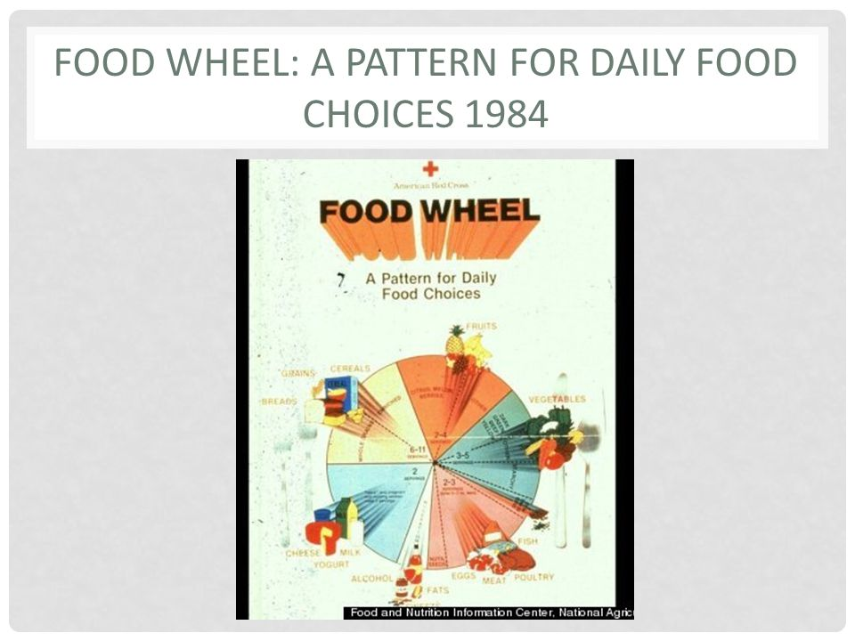 FOOD WHEEL: A PATTERN FOR DAILY FOOD CHOICES 1984