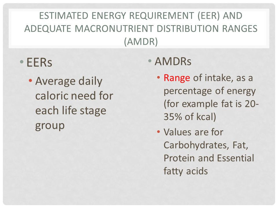 NUTRIENT DENSITY Divide the amount of the nutrient per serving by the recommended amount Divide the calories in a serving by daily caloric need Compare the two Empty calorie foods or junk foods have low nutrient density