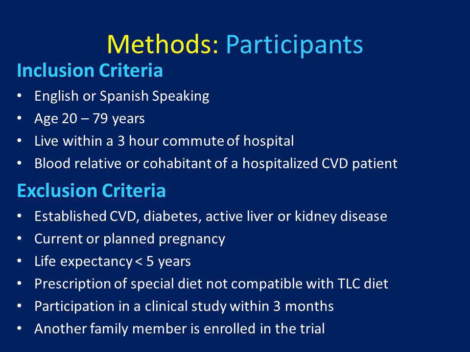 Conclusions The SI was not more effective than the CIN in reducing the primary endpoint LDL The SI was associated with significantly greater dietary improvement and a beneficial effect on change in HDL compared to the CIN, both secondary endpoints The overwhelming majority of family members of cardiac patients were not at primary prevention goals for optimal LDL, blood pressure, sat fat intake, or exercise The screening process identified many family members of patients with CVD who were unaware of their risk factors