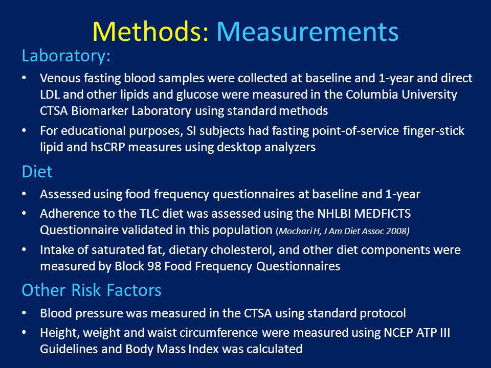 Control Intervention (CIN) Participants randomized to the CIN received: A 1-page handout to 1) avoid tobacco, 2) choose good nutrition, and 3) be more active A report was sent to their healthcare providers if a critical threshold value for a CVD risk factor was determined: (blood pressure > 140/90, LDL-C >190mg/dL, HDL-C 500mg/dL, or total cholesterol > 300mg/dL)
