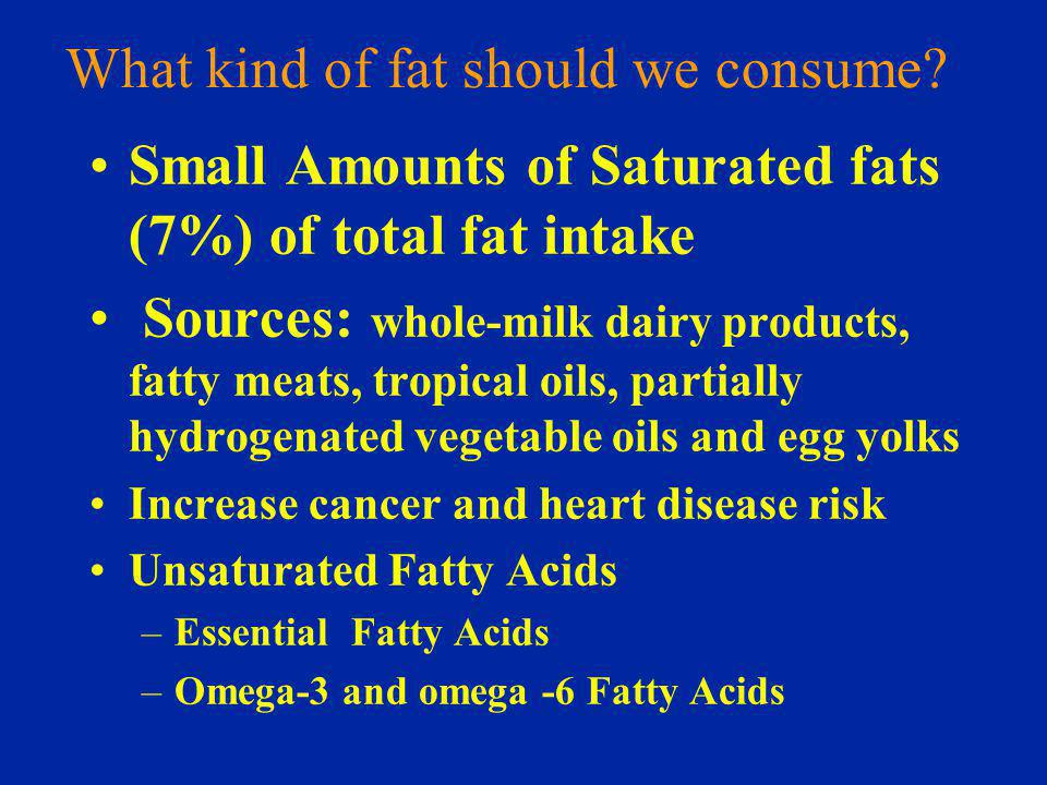 What kind of fat should we consume.