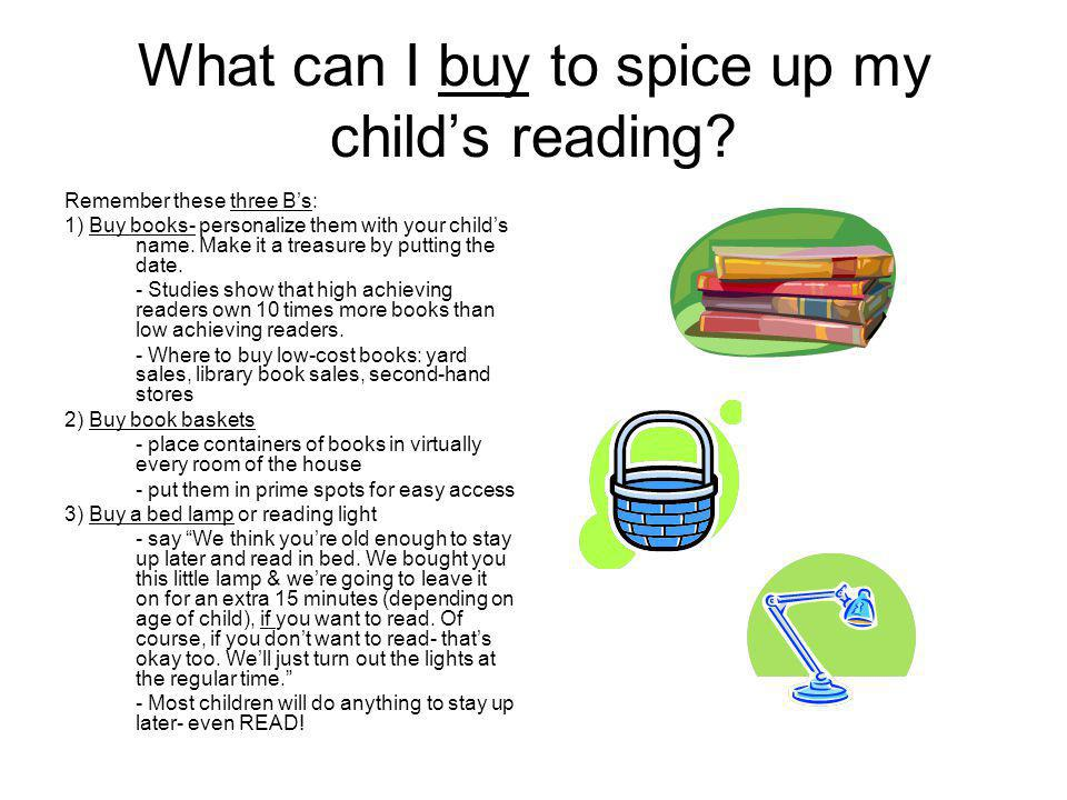 What can I buy to spice up my childs reading.