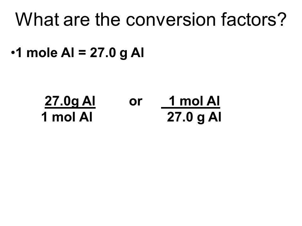 What are the conversion factors?