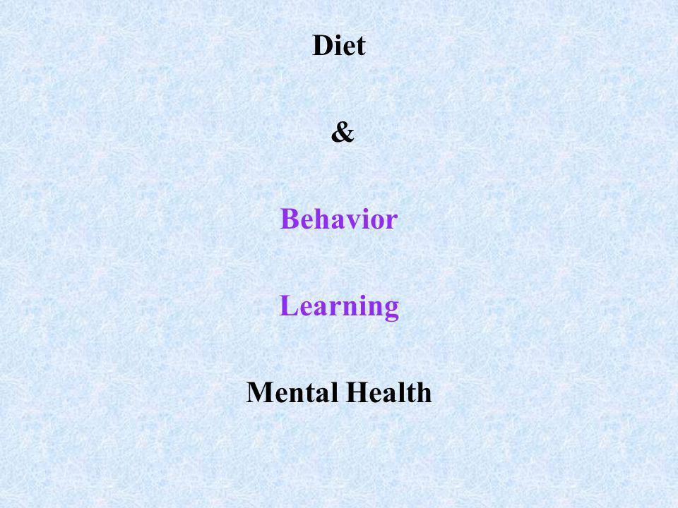 Diet & Behavior Learning Mental Health