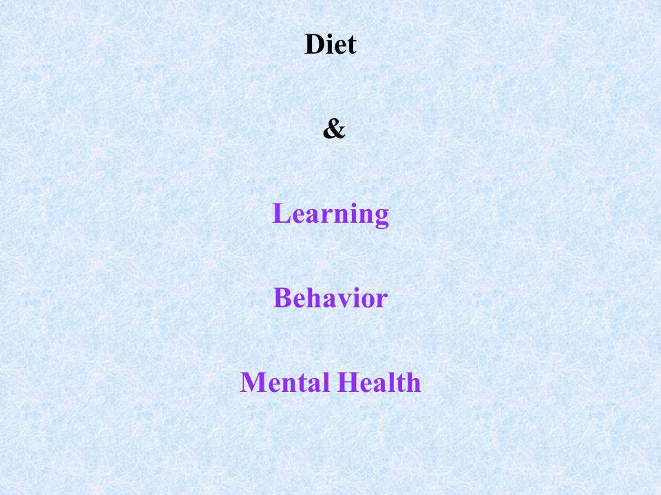 Diet & Learning Behavior Mental Health