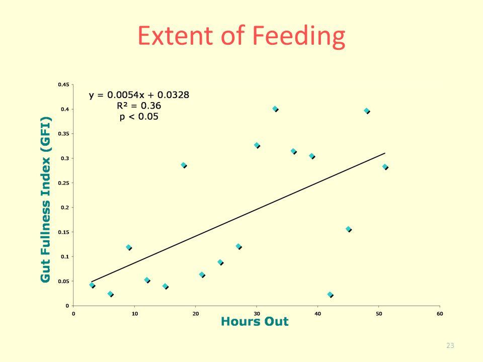 23 Extent of Feeding