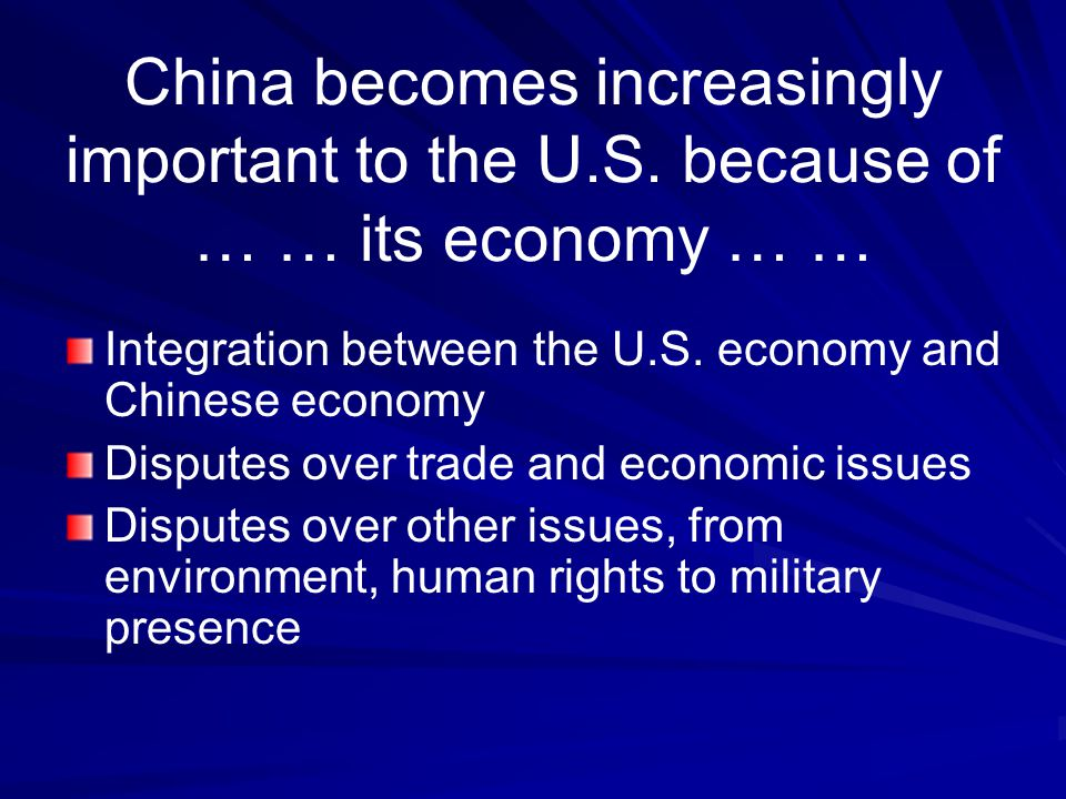 US and China: Important Relationship