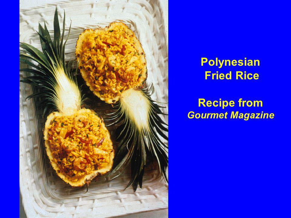 Polynesian Fried Rice Recipe from Gourmet Magazine