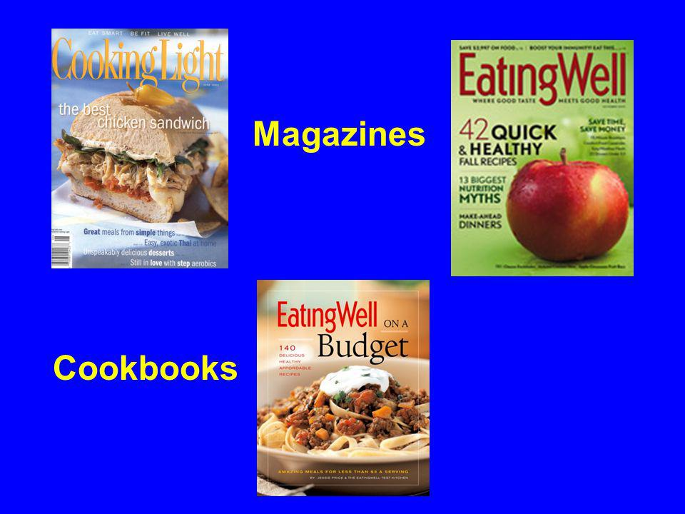 Magazines Cookbooks