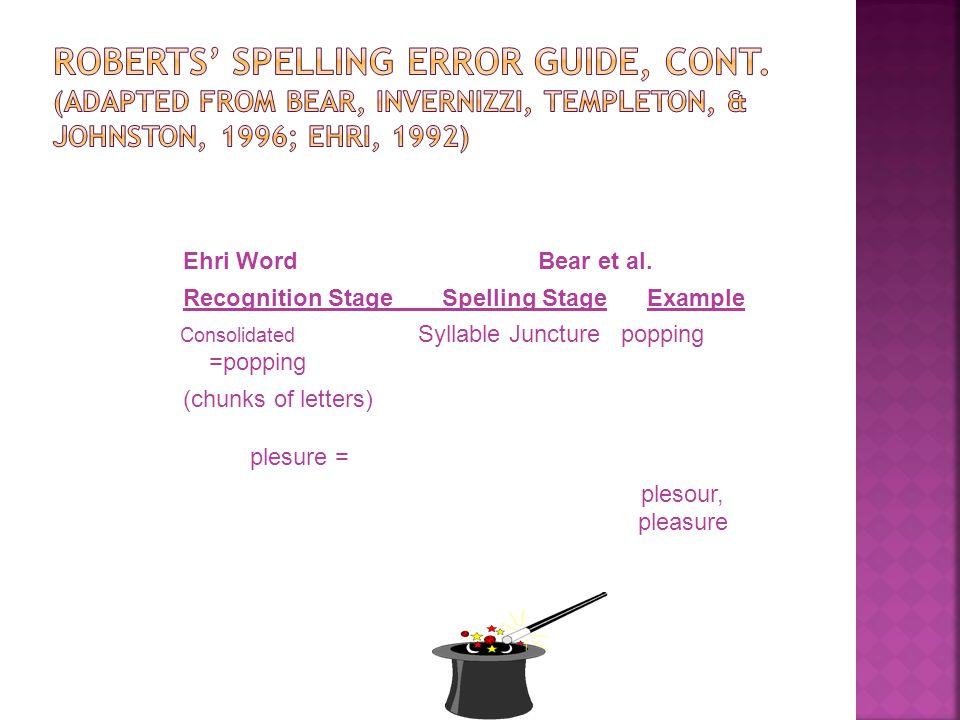 Ehri WordBear et al.