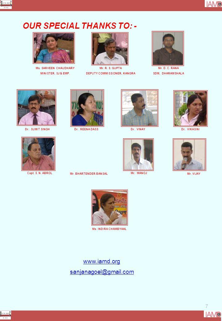 7 Ms. SARVEEN CHAUDHARY MINISTER, SJ & EMP. Mr. BHARTENDER BANSAL Mr.