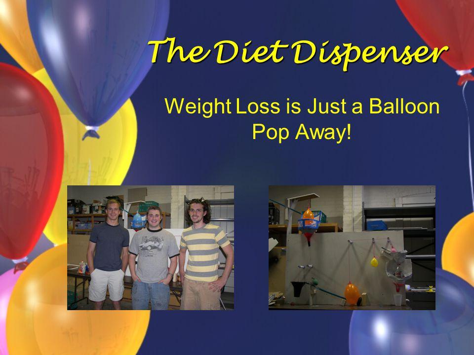 The Diet Dispenser Weight Loss is Just a Balloon Pop Away!