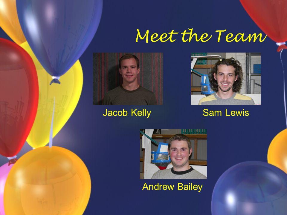 Meet the Team Jacob KellySam Lewis Andrew Bailey