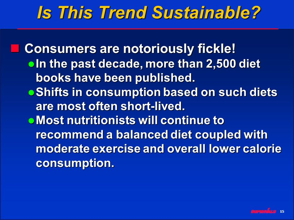15 Is This Trend Sustainable. Consumers are notoriously fickle.
