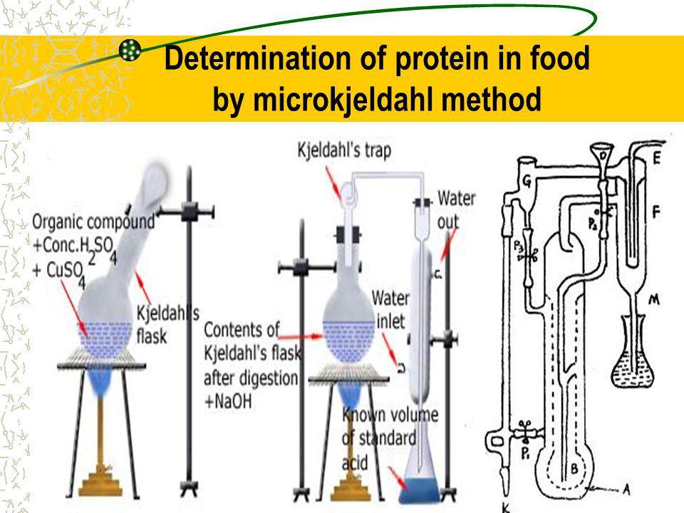 Determination of protein in food by microkjeldahl method