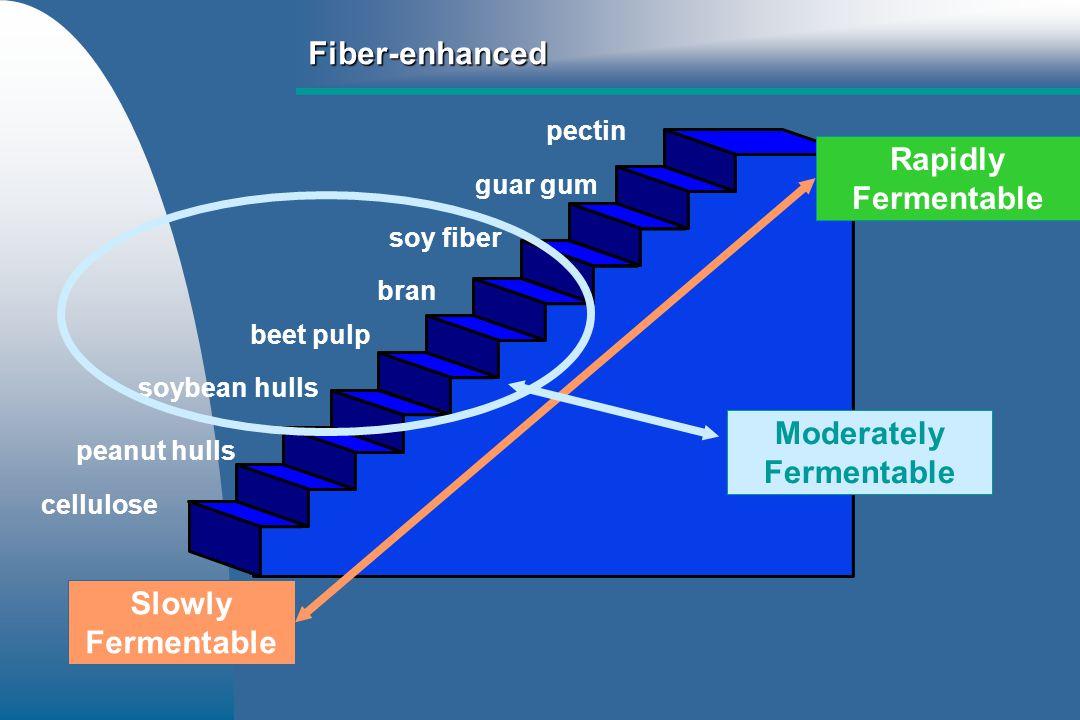 Fiber-enhanced Prebiotic fibers – – FOS – – MOS – – GOS – – Lactosucrose – – Lactulose – – Inulin