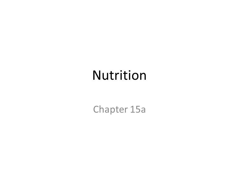 Nutrition Chapter 15a