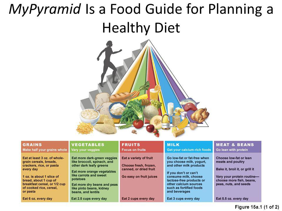 MyPyramid Is a Food Guide for Planning a Healthy Diet Figure 15a.1 (1 of 2)