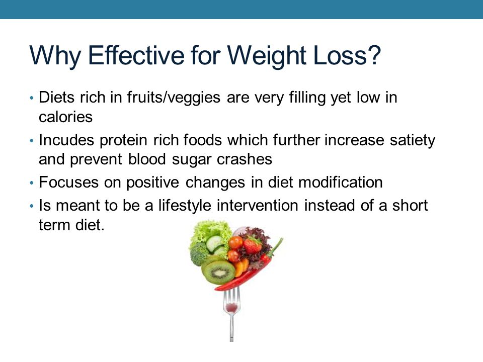 Why Effective for Weight Loss.