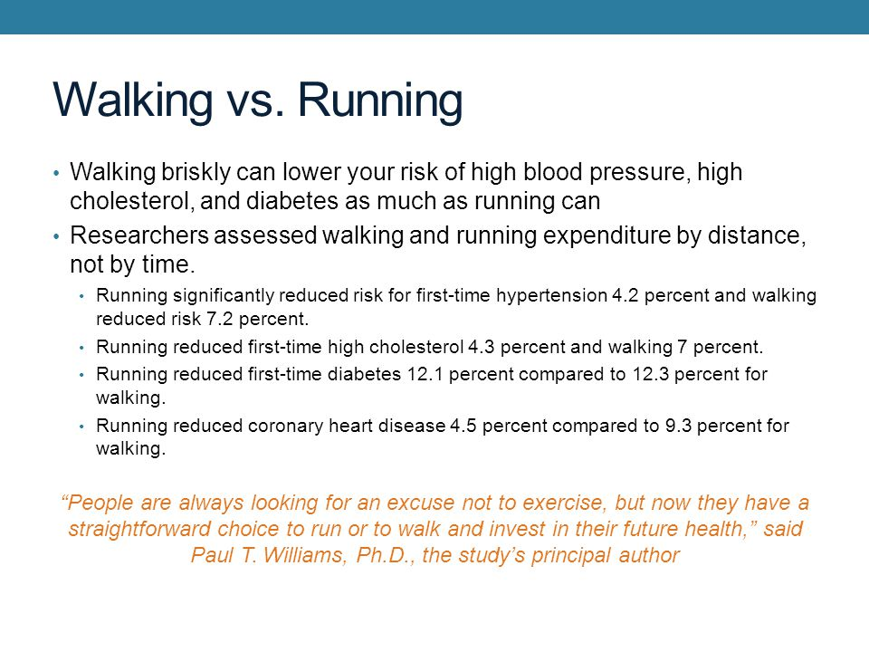 Walking vs.