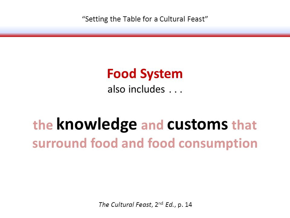 Food System also includes...