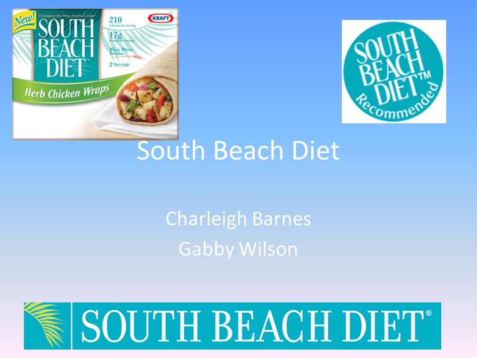 South Beach Diet Charleigh Barnes Gabby Wilson