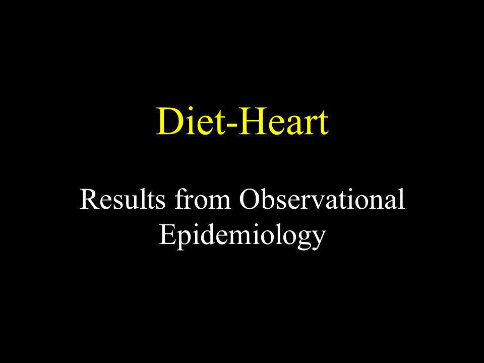 Diet-Heart Results from Observational Epidemiology