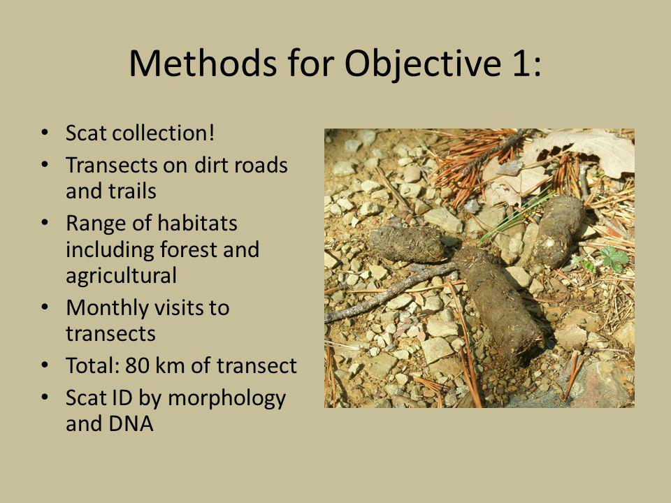 Methods for Objective 1: Scat collection.